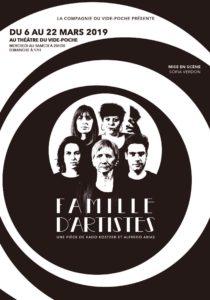 Affiche pour Famille d'artistes par la Compagnie du Vide-Poche